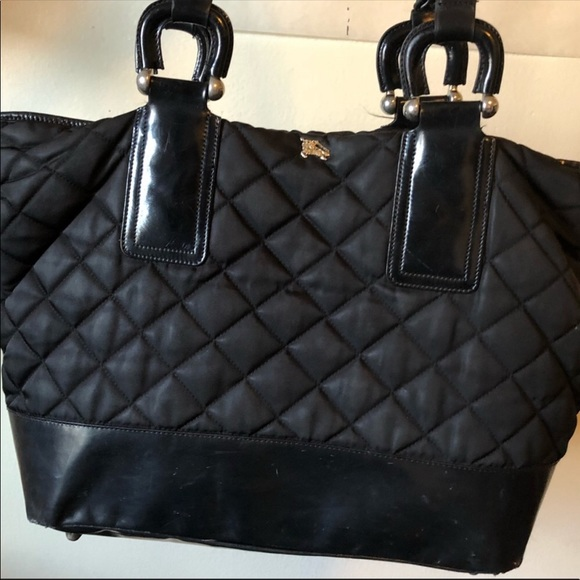 Burberry Handbags - Auth well loved Burberry tote